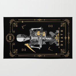 Death XIII Tarot Card Rug