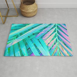 Palms Green Pink Rug