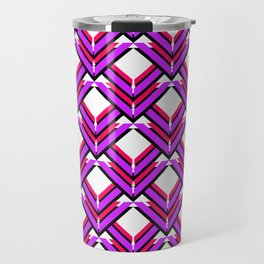 Purple Red Orange Pattern Travel Mug