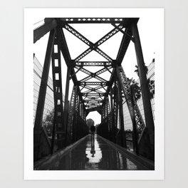 Answers in the rain Art Print