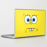 spongebob Laptop & iPad Skins featuring Spongebob Surprised Face by Cute Cute Cute