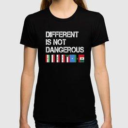 Different is not Dangerous Iran Iraq Sudan Mexico Flag Shirt T-shirt