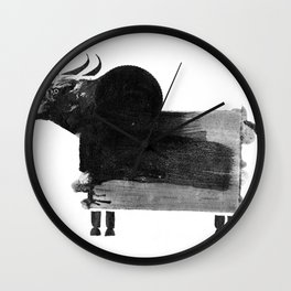 clumsy cow Wall Clock