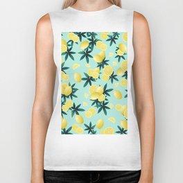 Lemon Twist Vibes #1 #tropical #fruit #decor #art #society6 Biker Tank