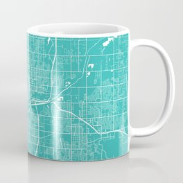 Oklahoma City map turquoise Coffee Mug
