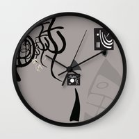 kandinsky Wall Clocks featuring Kandinsky...comics! by Marcia Borges