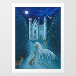 The Moonlit Gathering Art Print