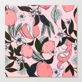 Flowering in the pink oranges Canvas Print
