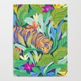 Colorful Jungle Poster