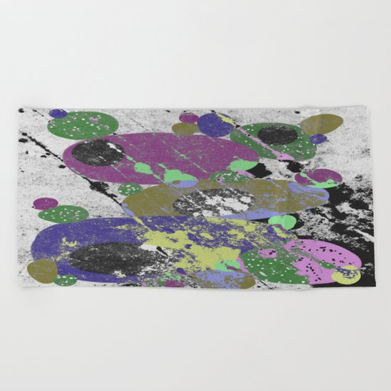 Stack Em Up! - Abstract, textured, pastel coloured artwork Beach Towel