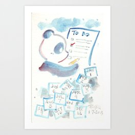 To Do List Panda Art Print