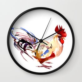 Rooster Of France Wall Clock