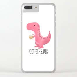 Coffee-saur | Pink Clear iPhone Case