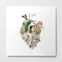 Vintage Botanical Heart Metal Print