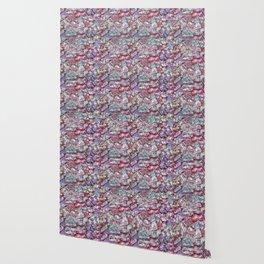 Grunge Organic Rocks Motif Pattern Wallpaper