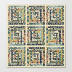 Art Deco Patchwork Canvas Print