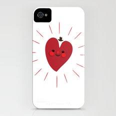 Happy Heart Slim Case iPhone (4, 4s)