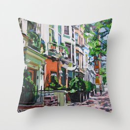 Westside Townhouses, Upper West Side Throw Pillow