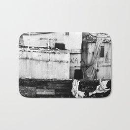 Destroyed - B/W Bath Mat