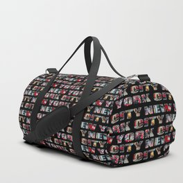 New York City (typography) Duffle Bag