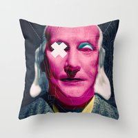 frank Throw Pillows featuring Frank by Alec Goss