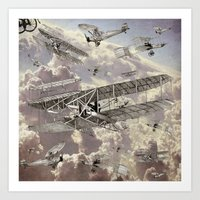 airplanes Art Prints featuring airplanes 2 by Кaterina Кalinich