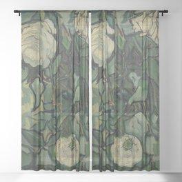 """Vincent Van Gogh """"Roses"""" Sheer Curtain"""
