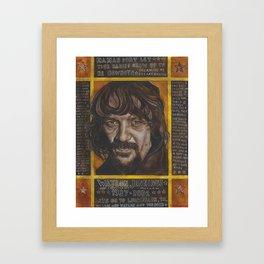 Waylon Jennings Framed Art Print