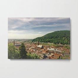 Heidelberg from Above Metal Print