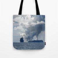 duvet cover Tote Bags featuring AMAZING CLOUD DUVET COVER by aztosaha