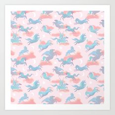 Magic Ponies Art Print