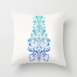 La Vie & La Mort – Blue Ombré Throw Pillow