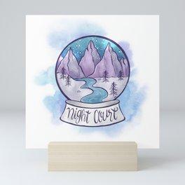 NIGHT COURT SNOW GLOBE Mini Art Print