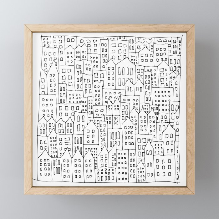 Coit City Pattern 1 Framed Mini Art Print