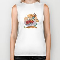 tintin Biker Tanks featuring Tintin and Snowy! by Ana Xoch Guillén