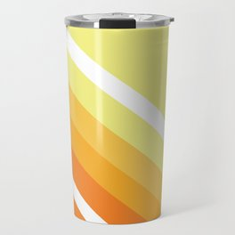 Retro Orange n' Yellow Lines Travel Mug