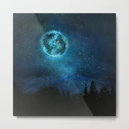 Planetary Soul Haven Night Metal Print