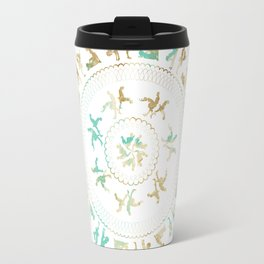 Kama Sutra Mandala Blue and Gold Travel Mug