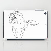 wind iPad Cases featuring Horse (Wind) by Paper Horses