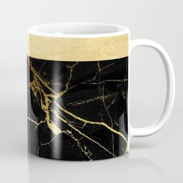 Gold and Black Marble Coffee Mug