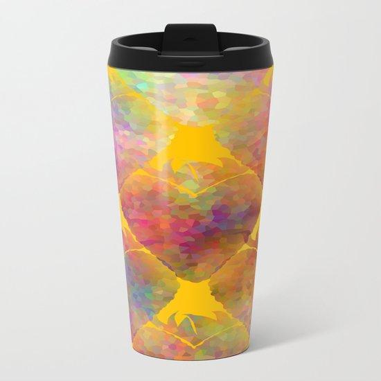 Berry Hearts Metal Travel Mug