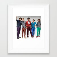 1d Framed Art Prints featuring 1d by Max Jones