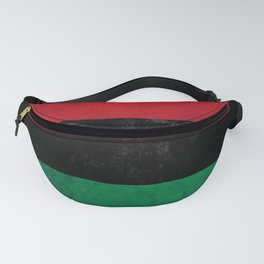 Distressed Afro-American / Pan-African / UNIA flag Fanny Pack