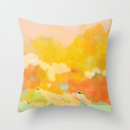 abstract spring sun Throw Pillow
