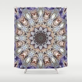 Abstract Gemstones Shower Curtain