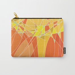 Abstract geometric orange pattern, vector illustration Carry-All Pouch