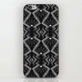 """Art Deco . Black and white pattern .""""Constance """". iPhone Skin"""
