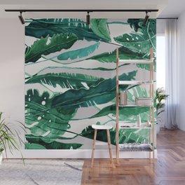 Horizontal Leaves Wall Mural
