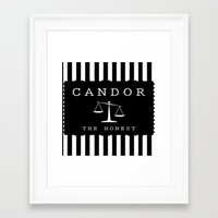 divergent Framed Art Prints featuring CANDOR - DIVERGENT by MarcoMellark