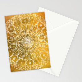 Rosette Window - Yellow Stationery Cards